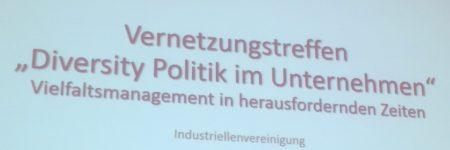 """Rückblick aufs Vernetzungstreffen """"Diversity Politik im Unternehmen"""""""