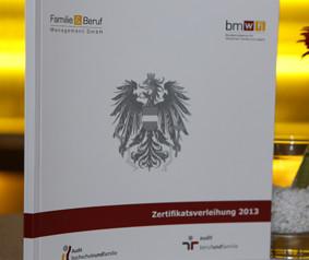 Audit berufundfamilie - Zertifikatsverleihung 2013